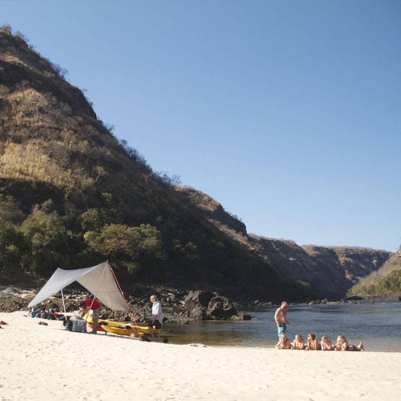 Zambezi White Water Rafting Overnight Trip