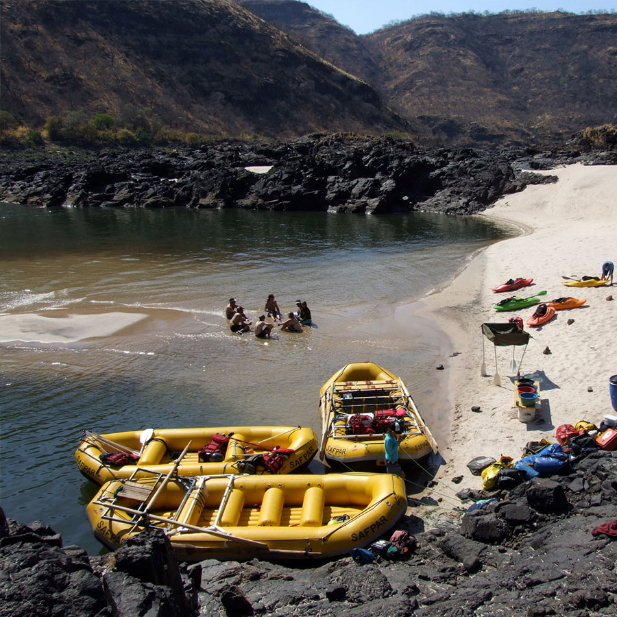 Multi Night Rafting Trip Beach